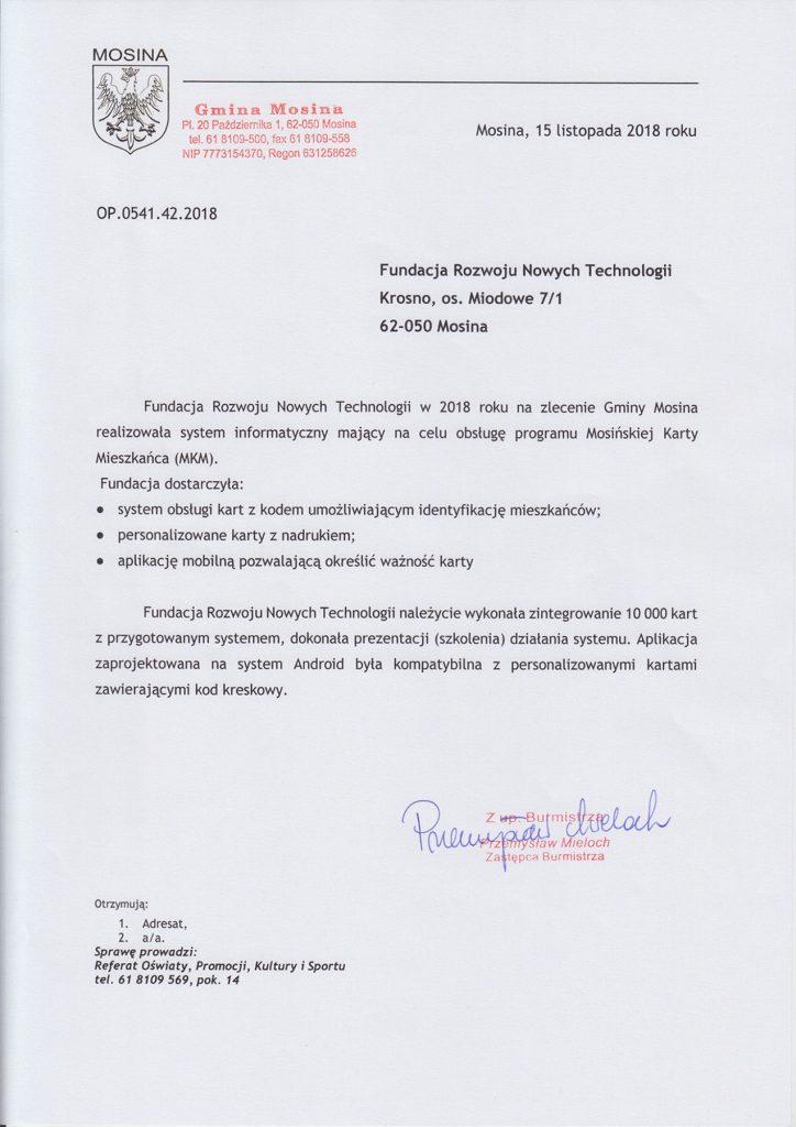 referencje urzad miasta i gminy mosina